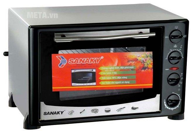 Lò nướng Sanaky VH 359N có thiết kế tiện lợi