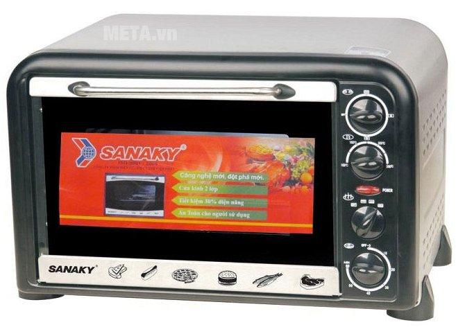 Lò nướng Sanaky VH 369N có thiết kế tiện lợi