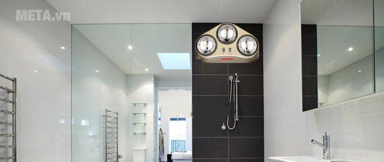 Gia đình bạn không còn nỗi sợ lạnh giá khi tắm với đèn sưởi nhà tắm Sunhouse SHD3823
