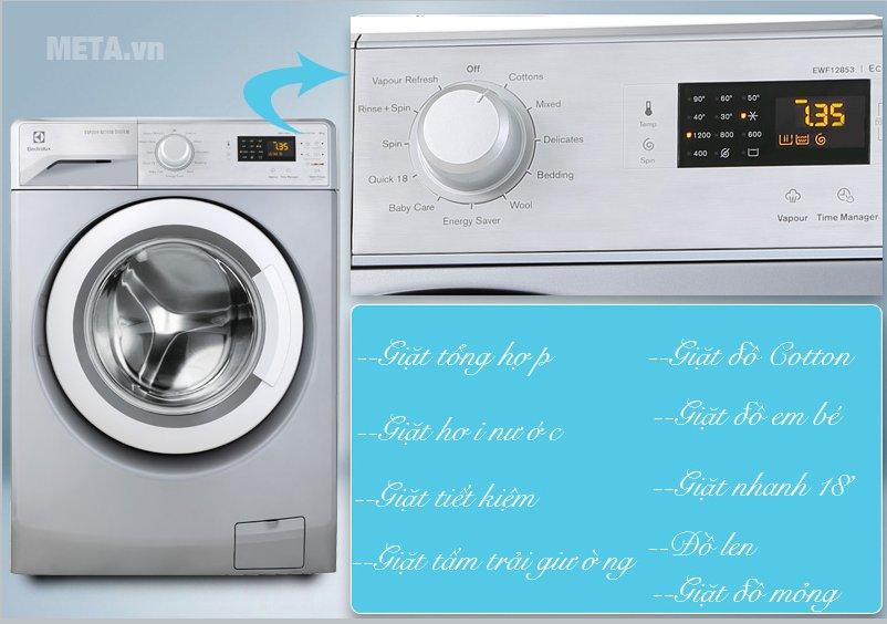Máy giặt Electrolux EWF12853S dễ sử dụng