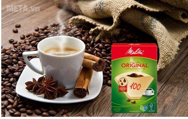 Bộ 5 hộp giấy lọc Melitta 100/40 giúp cà phê có hương vị cổ điển