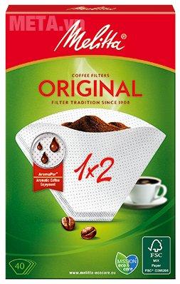 Bộ 5 hộp giấy lọc Melitta 1x2/40 giúp bạn có ly cà phê hương vị cổ điển