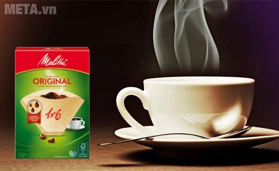 Bộ 5 hộp giấy lọc Melitta 1x6/40 giúp bạn thưởng thức hương vị cà phê cổ điển