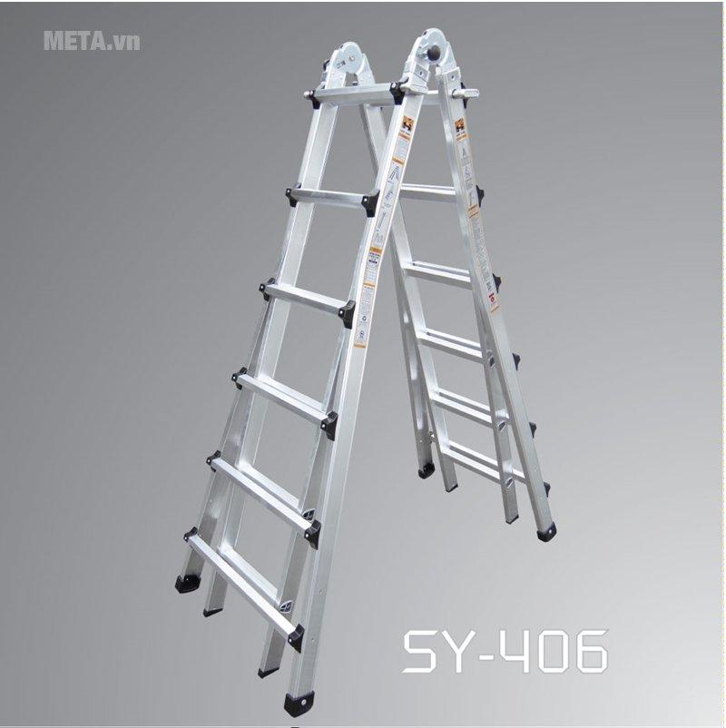 Thang nhôm rút Shin Yang SY-406 có thiết kế tiện lợi