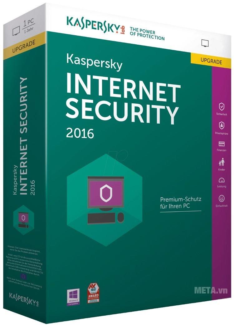 Kaspersky Internet Security 2016 với nhiều tính năng ưu việt.