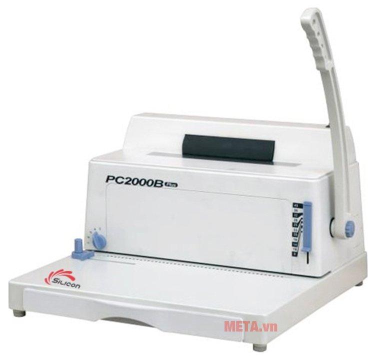 Máy đóng sách gáy xoắn cuộn Silicon BM-PC2000B có thiết kế tiện lợi