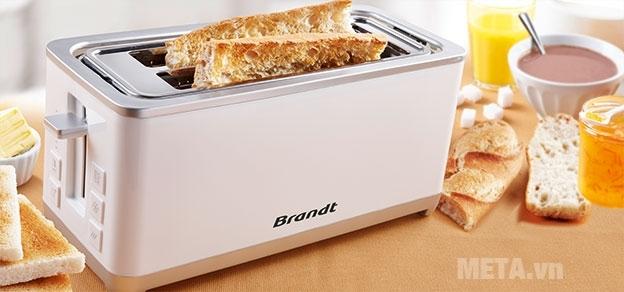 Máy nướng bánh sandwich Brandt GP2000EW cùng 8 chế độ nướng chín vàng