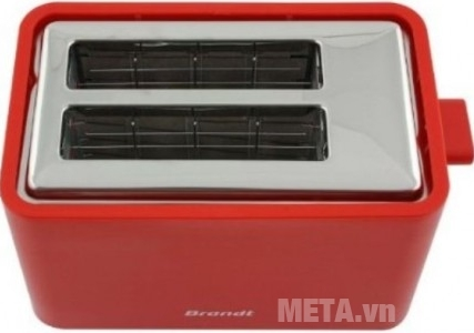 Máy nướng bánh sandwich Brandt TO756R hỗ trợ 2 ngăn làm bánh, làm nhanh với công suất 700W