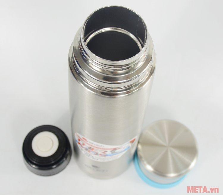 Bình giữ nhiệt Elmich K10 2246388 có miệng bình rộng, dễ đổ nước hoặc cho đá vào.