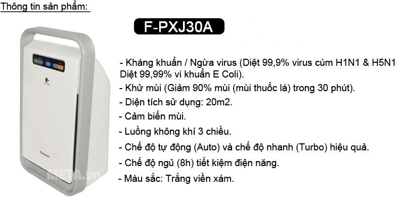 Tính năng nổi bật của máy lọc không khí Panasonic F-PXJ30A (20m2)