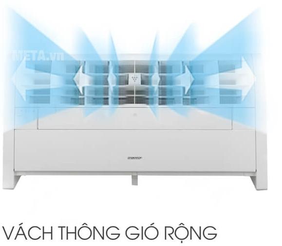 Máy tạo Plasmacluster Ion Sharp IG-A40E-W co vách thông gió rộng