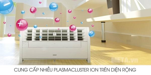 Máy tạo Plasmacluster Ion Sharp IG-A40E-W phân bổ mật ion trên diện rộng