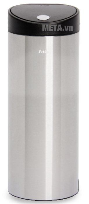 Thùng rác inox nhấn tròn lớn Fitis RTL1-901 có chất liệu cao cấp