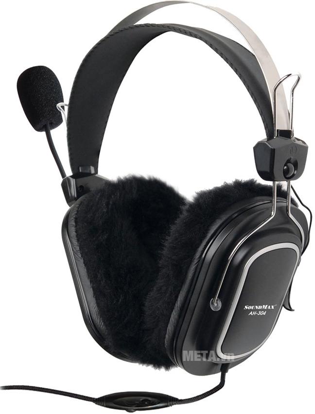 Tai nghe SoundMax AH-304 điều chỉnh âm lượng trên dây