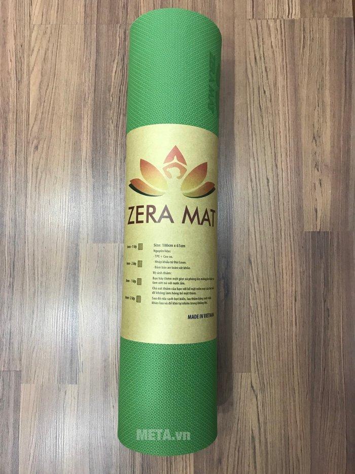 Thảm Yoga Zera Mat 8 ly xanh lá