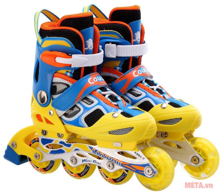 Giầy trượt patin Cougar MZS835LSG màu vàng