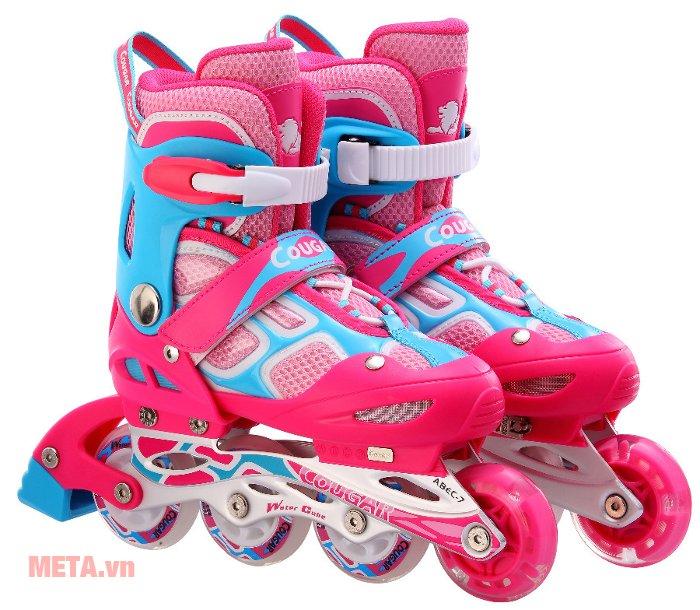 Giầy trượt patin Cougar MZS835LSG màu hồng