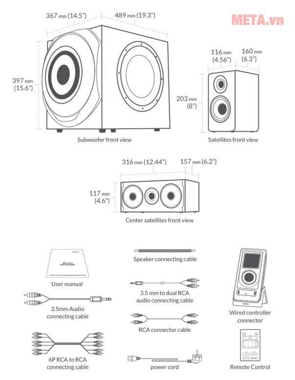 Cấu tạo loa 5.1 Edifier S550 Encore