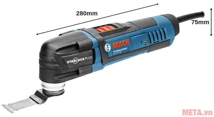Kích thước của máy cắt đa năng Bosch GOP 30-28