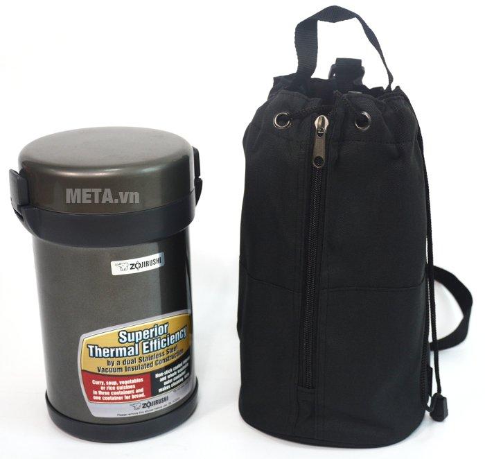 Cặp lồng cơm giữ nhiệt Zojirushi SL-XCE20 có túi đựng giúp đem theo dễ dàng