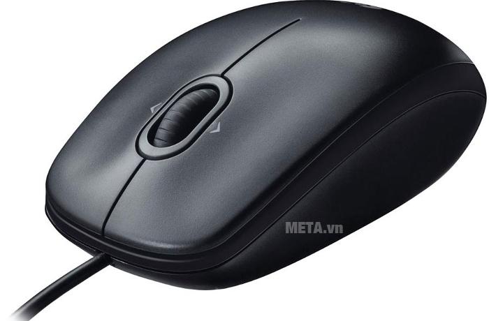 Chuột quang có dây Logitech M100R kết nối đơn giản qua cổng USB
