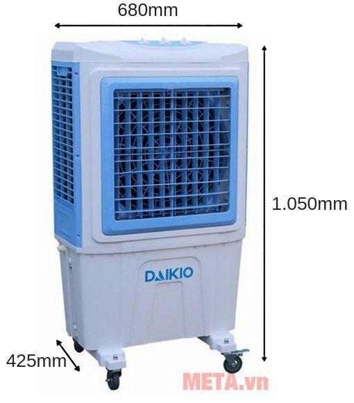 Kích thước của máy làm mát không khí Daikio DK-5000C