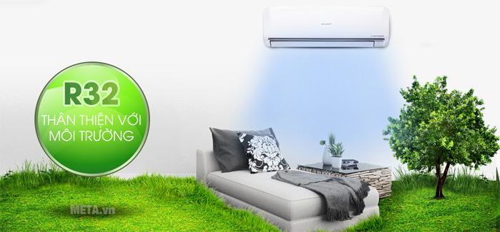 Máy sử dụng môi chất làm lạnh R32 thân thiện với môi trường