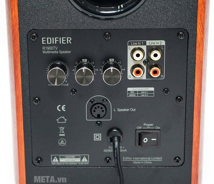 Các cổng kết nối của loa Edifier R1900TV