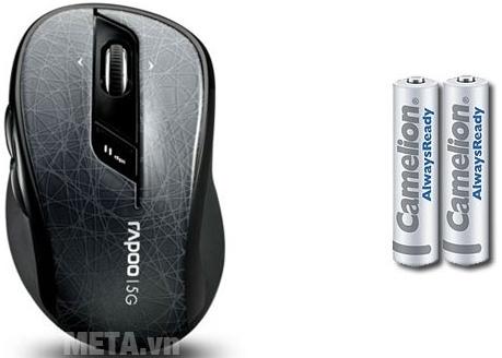 Chuột không dây Rapoo 7100P sử dụng pin AA phổ biến