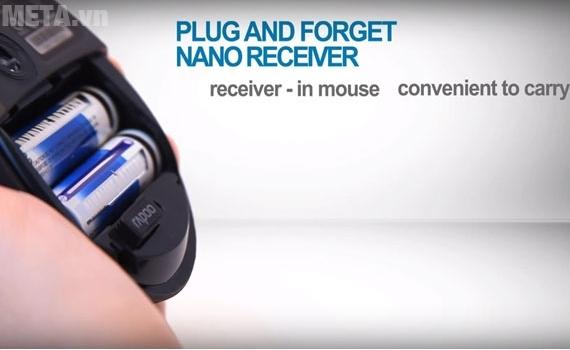 Cách lắp pin cho chuột không dây Rapoo 7100P