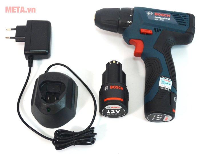 Máy khoan vặn vít dùng pin GSR 120-LI thiết kế tiện lợi