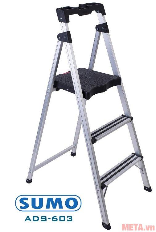 Thang ghế 3 bậc Sumo ADS-603 được dùng rộng rãi trong gia đình, siêu thị, cửa hàng...