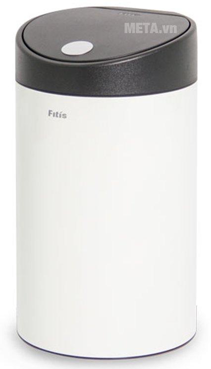 Thùng rác inox nhấn tròn nhỏ Fitis RTS1-904 có thiết kế trụ tròn