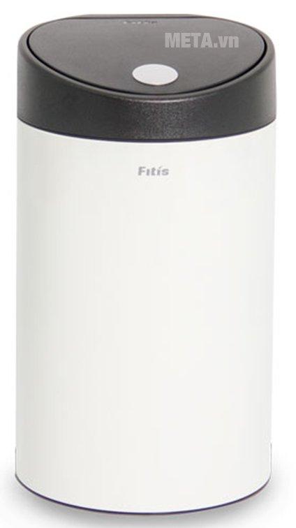 Thùng rác inox nhấn tròn nhỏ Fitis RTS1-904