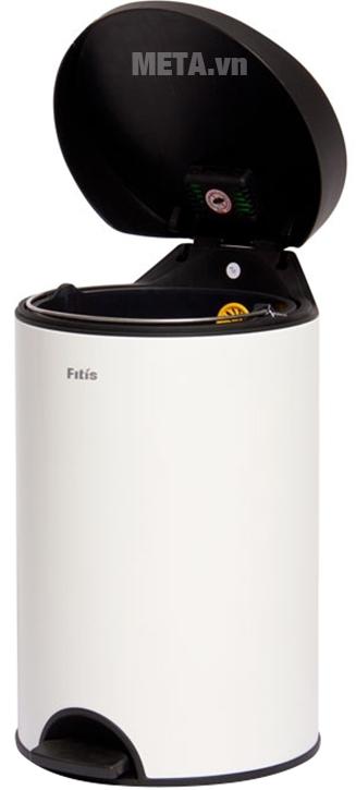 Thùng rác Inox đạp tròn nhỏ Fitis RPS1-904 cao cấp