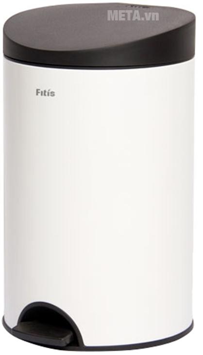 Thùng rác Inox đạp tròn nhỏ Fitis RPS1-904 kháng khuẩn mạnh mẽ