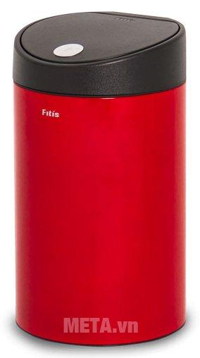 Thùng rác inox nhấn tròn nhỏ Fitis RTS1-906