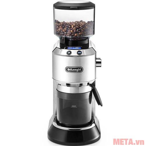 Máy xay cà phê Delonghi KG521.M có dung tích ngăn đựng hạt là 350g