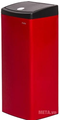 Thùng rác Inox nhấn vuông lớn Fitis STL1-906 bền bỉ với thời gian