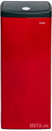 Thùng rác Inox nhấn vuông lớn Fitis STL1-906 mở nắp dạng nút inox tụ lực