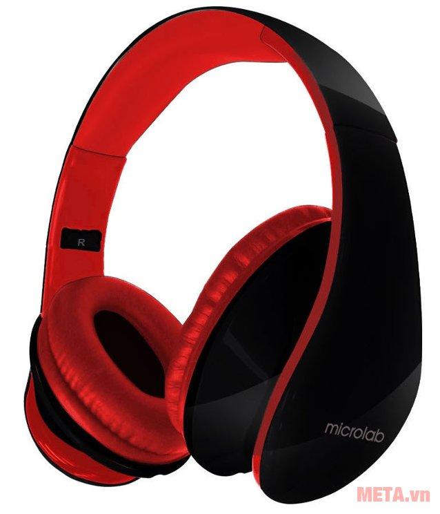 Tai nghe Microlab K310 có màu sắc nổi bật cùng thiết kế nhỏ gọn tiện lợi