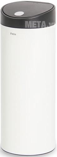 Thùng rác Inox nhấn tròn lớn Fitis RTL1-904 bật nắp dạng nút