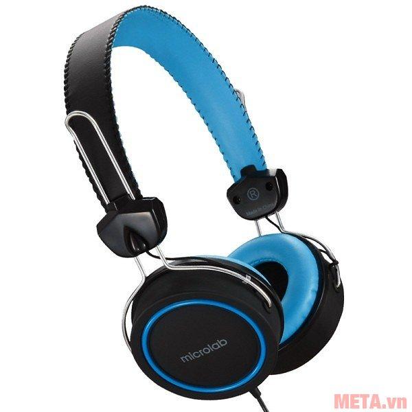 Tai nghe Microlab K300 màu xanh đen