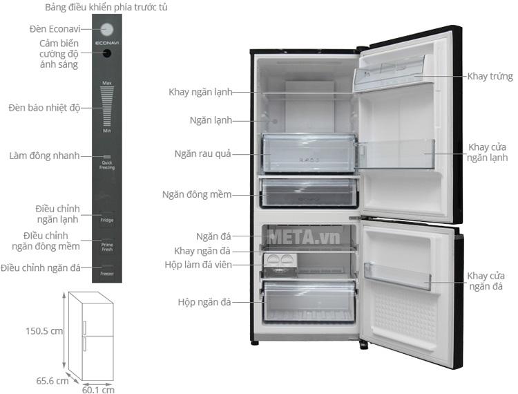 Cấu của tủ lạnh