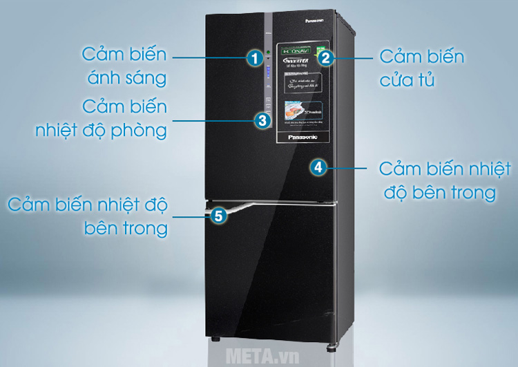 Tủ lạnh tích hợp công nghê cảm biến hiện đại
