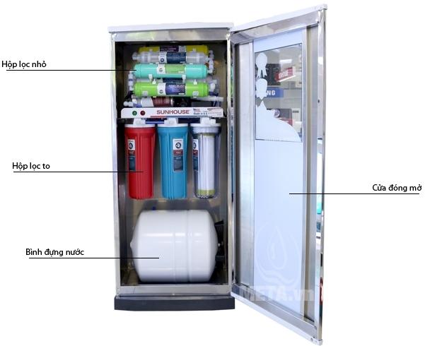 Máy lọc nước R.O SHR88310K có thể tự dừng bơm và lọc nước