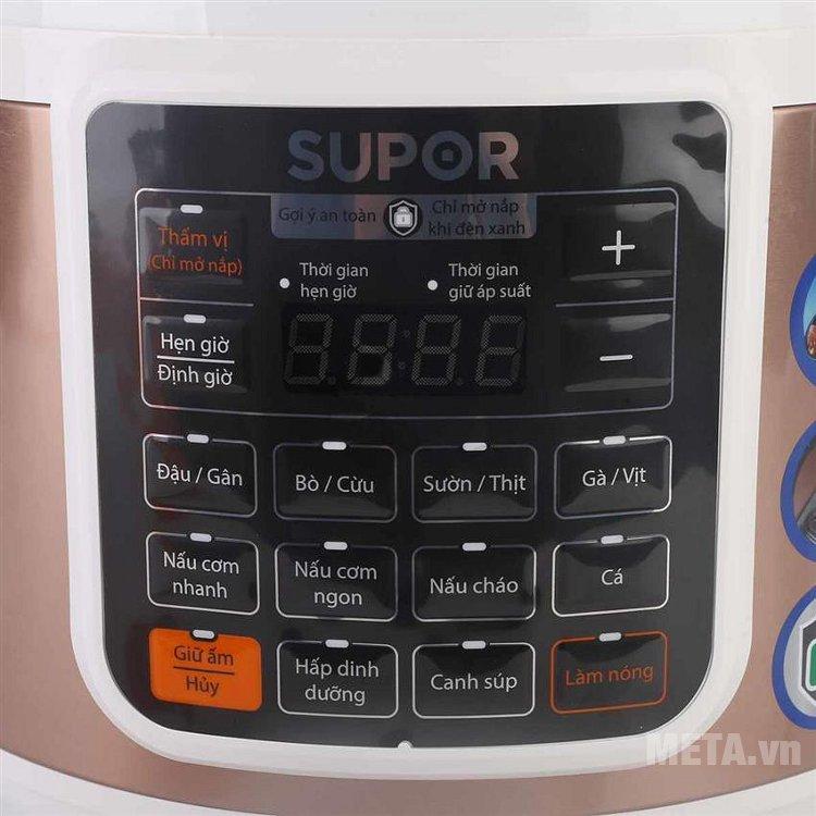 Bảng điều khiển của nồi áp suất điện tử Supor CYSB50YC10DVN-10