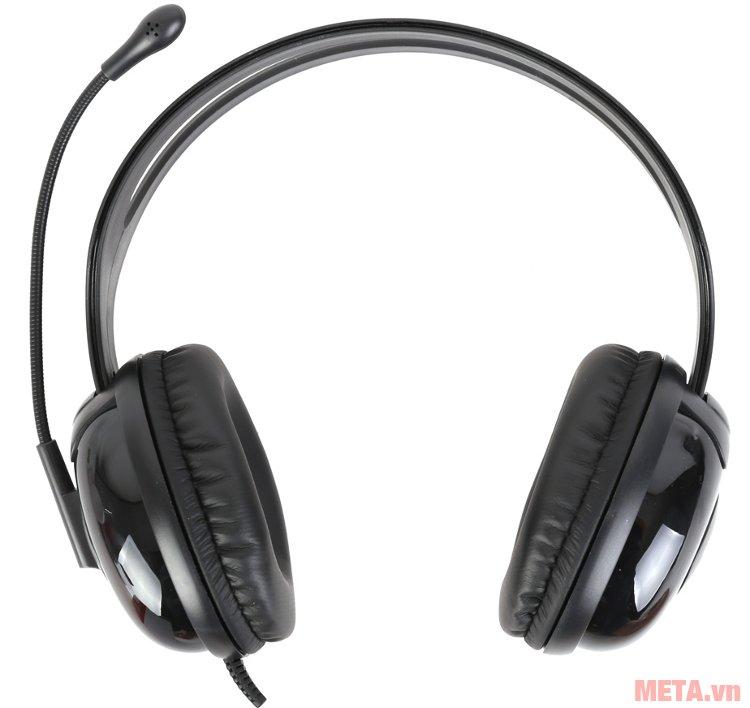 Tai nghe Microlab K280 có lớp da bọc ngoài đệm tai