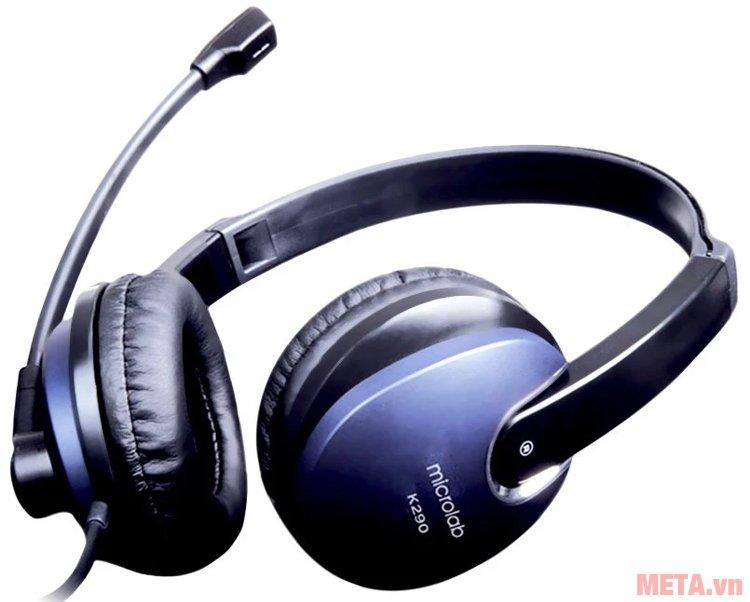 Tai nghe Microlab K290 có thương hiệu trên thân loa