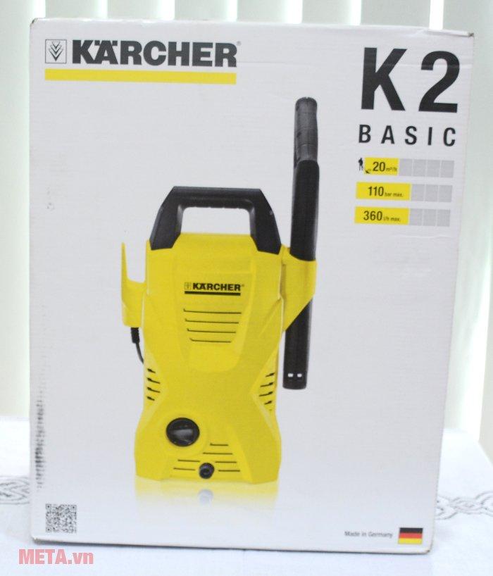 Máy phun áp lực Karcher K2 Basic OJ có bao bì chắc chắn